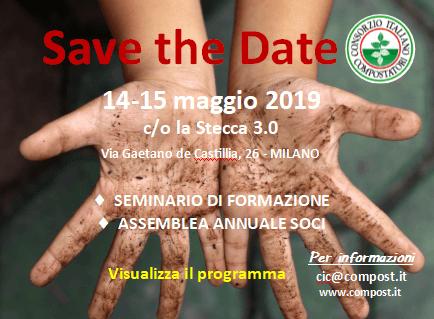 Save the date - 14-15 maggio 2019