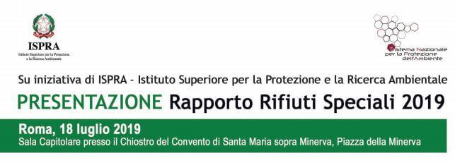 Intestazione Evento di Presentazione Rapporto Rifiuti Speciali 2019